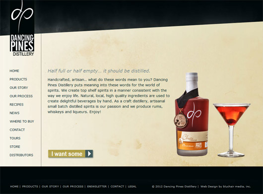 Dancing Pines Distillery Web Design