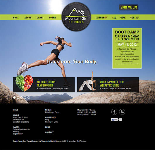 Portfolio Mountain Girl Web Design