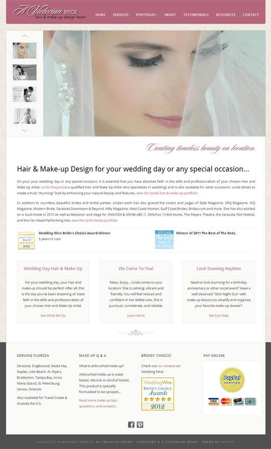 A Victorian Bride WordPress Development