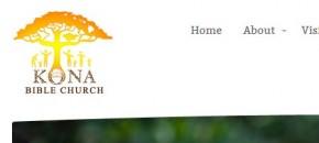 Kona Bible Church Web Design