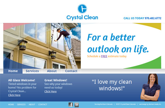 Crystal Clean Colorado Web Design