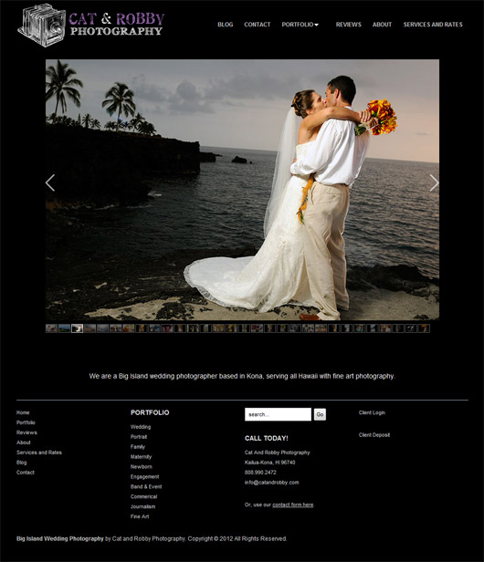 Portfolio Photography Website Design