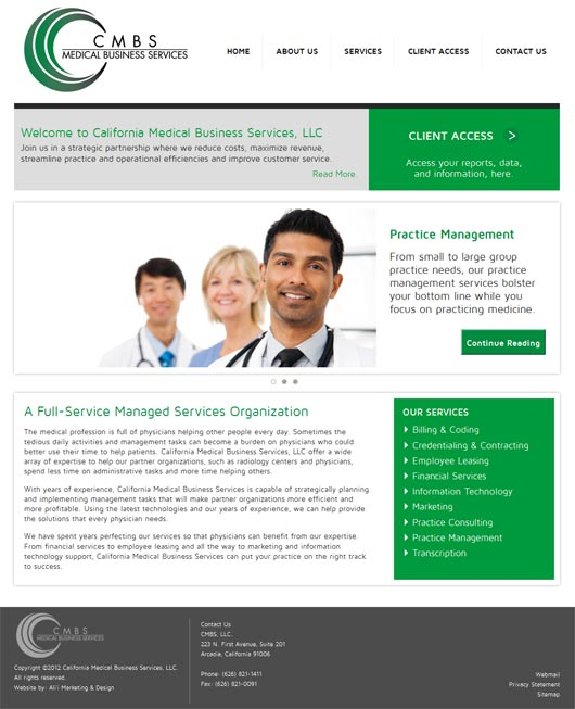 CMBS Website Design